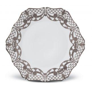 L Objet Alencon Platinum Dessert Plate