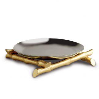 L Objet Bambou Round Platter