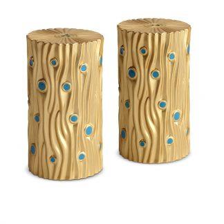 L Objet Bois Bois De Dor Gold Turquoise Enamel