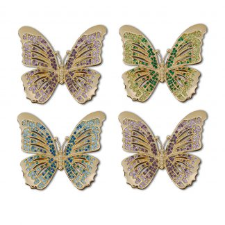L Objet Butterfly Gold Multicolor Crystals
