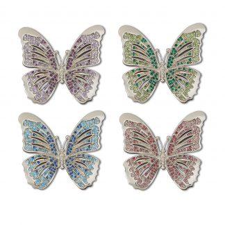 L Objet Butterfly Platinum Multicolor Crystals