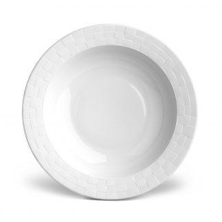 L Objet Byzanteum Blanc Rimmed Serving Bowl