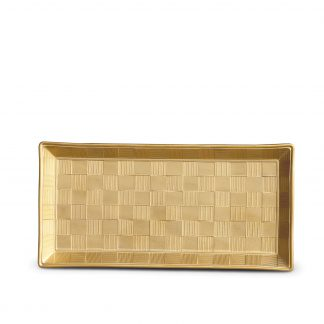 L Objet Byzanteum Or Rectangular Tray