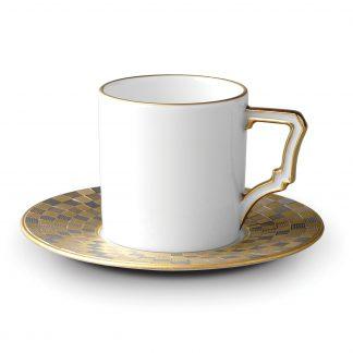 L Objet Byzanteum Tricolor Espresso Cup Saucer