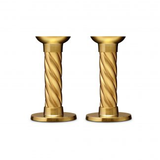 L Objet Carrousel Gold Candlesticks Small Set Of 2