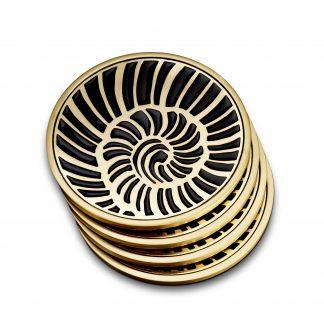 L Objet Coasters Shell Set Of 4