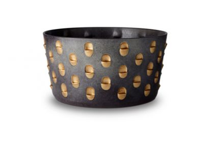 L Objet Coba Aged Bronze And Gold Bowl Large