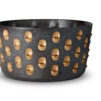 L Objet Coba Aged Bronze And Gold Bowl Medium
