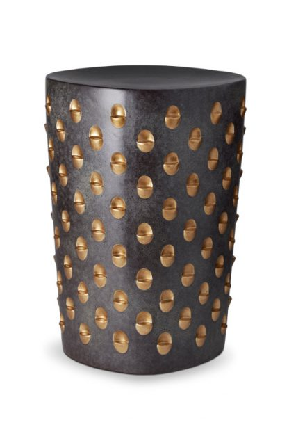 L Objet Coba Aged Bronze And Gold Stool