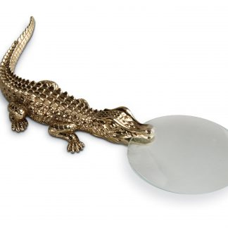 L Objet Crocodile Gold Magnifying Glass