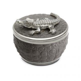 L Objet Crocodile Platinum Candle