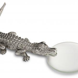 L Objet Crocodile Platinum Magnifying Glass