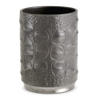 L Objet Crocodile Platinum Pencil Cup