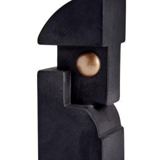 L Objet Cubisme Bookend One Black And Gold