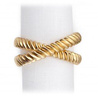 L Objet Deco Twist Gold