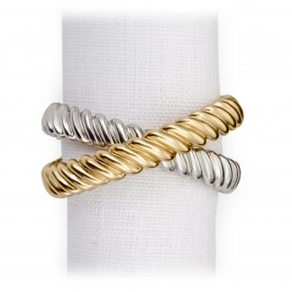 L Objet Deco Twist Platinum Gold