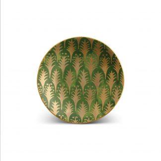 L Objet Fortuny Canape Plates Piumette Green