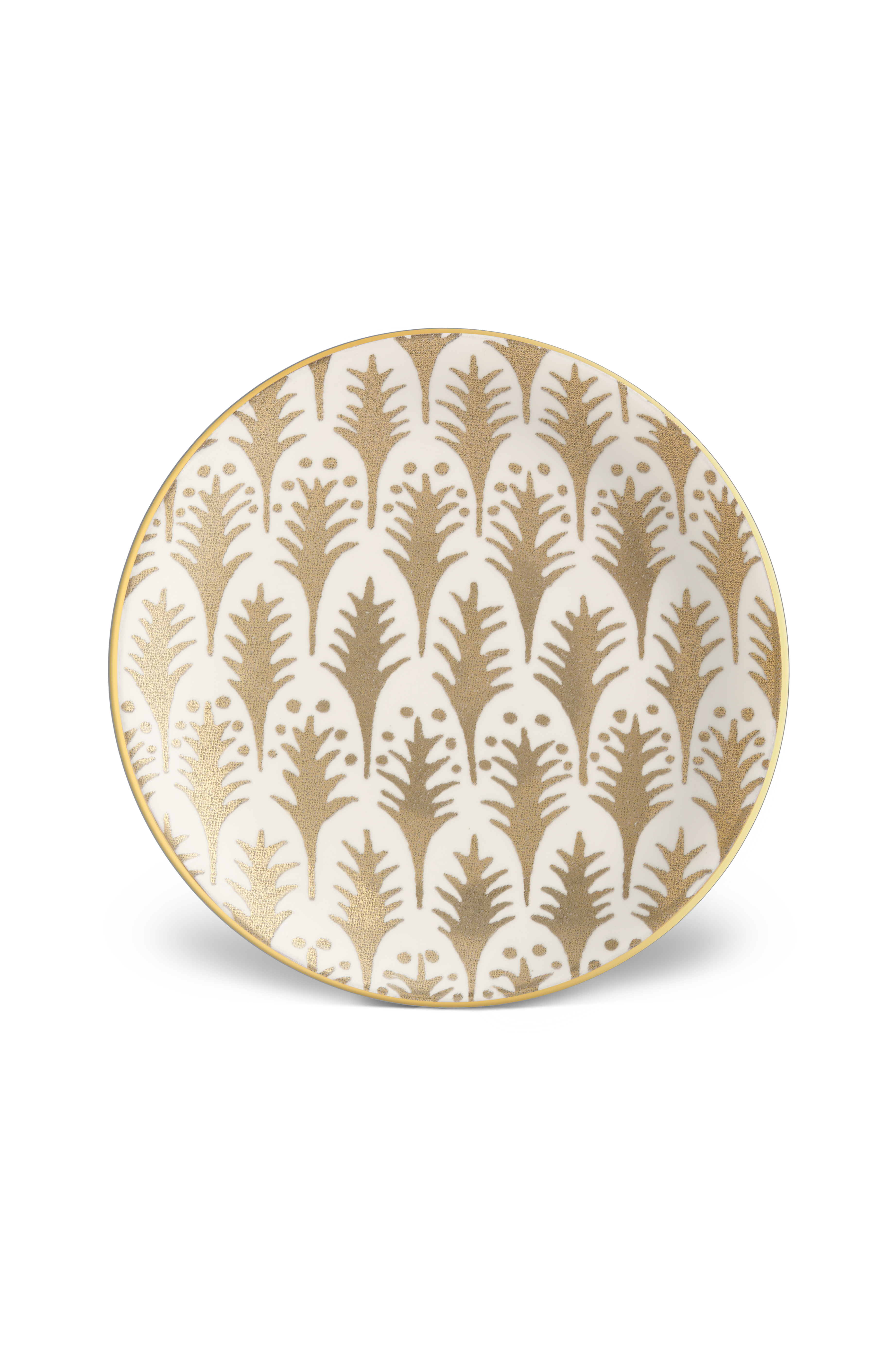 L objet fortuny canape plates piumette white gold paris for What is a canape plate