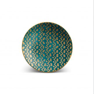 L Objet Fortuny Canape Plates Tapa Teal