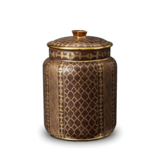 L Objet Fortuny Canisters Ashanti Grey Medium
