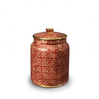 L Objet Fortuny Canisters Ashanti Red Small