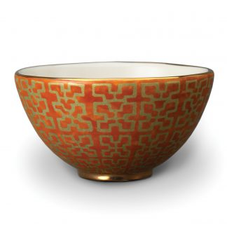 L Objet Fortuny Cereal Bowls Ashanti Orange