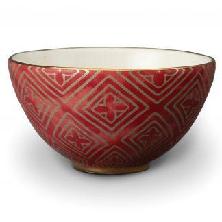 L Objet Fortuny Cereal Bowls Jupon Red