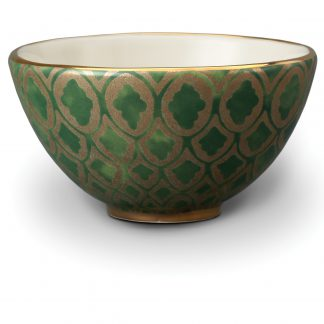 L Objet Fortuny Cereal Bowls Peruviano Green