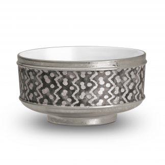 L Objet Fortuny Cereal Bowls Tapa Black Platinum