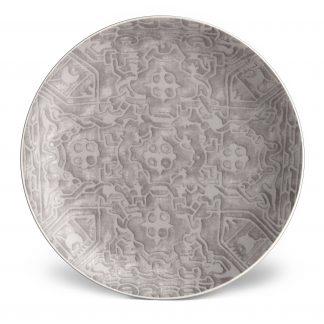 L Objet Fortuny Dessert Plates Moresco Platinum