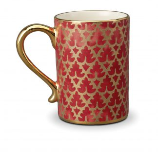 L Objet Fortuny Mugs Murillo Red