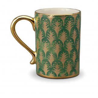 L Objet Fortuny Mugs Piumette Green