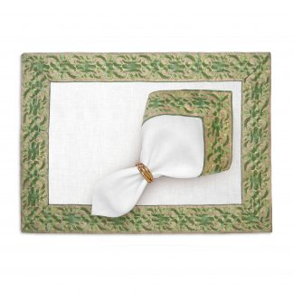 L Objet Fortuny Placemats Farnese Green Set Of 4