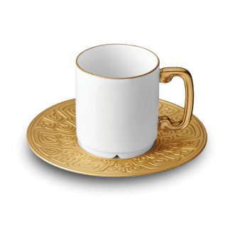 L Objet Han Gold Espresso Cup Saucer