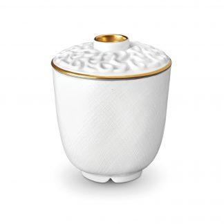 L Objet Han Gold Green Tea Cup With Lid