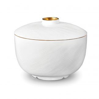 L Objet Han Gold Rice Bowl With Lid