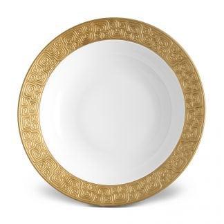 L Objet Han Gold Rimmed Serving Bowl