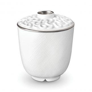 L Objet Han Platinum Green Tea Cup With Lid