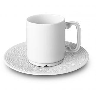 L Objet Han White Espresso Cup Saucer
