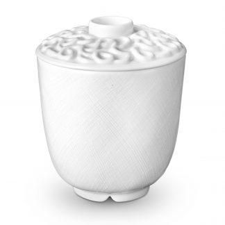 L Objet Han White Green Tea Cup With Lid