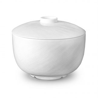 L Objet Han White Rice Bowl With Lid