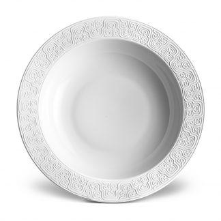 L Objet Han White Rimmed Serving Bowl