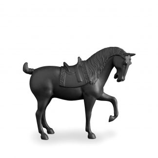 L Objet Horse Black Sculpture Medium