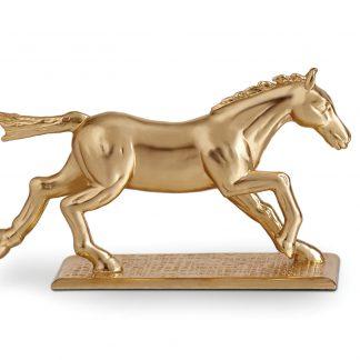 L Objet Horse Knife Chopstick Rest Gold Set Of 6