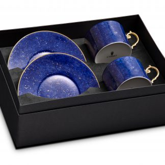 L Objet Lapis Tea Cup Saucer Gift Box Of 2
