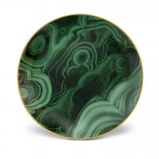 L Objet Malachite Canape Plate Set Of 4