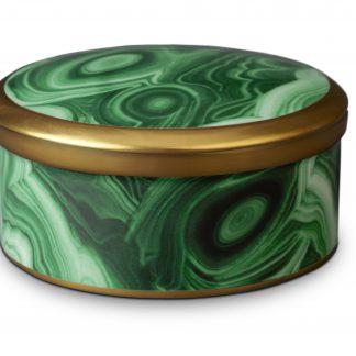 L Objet Malachite Round Box