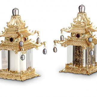 L Objet Pagoda Gold Fresh Water Pearls Yellow Crystals