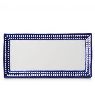 L Objet Perle Bleu Rectangular Platter