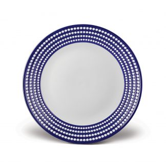 L Objet Perle Bleu Round Platter